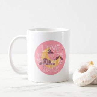 I Love You to the Moon and Back Pink Mug