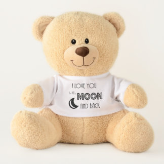 i love you to the moon and back simple modern teddy bear