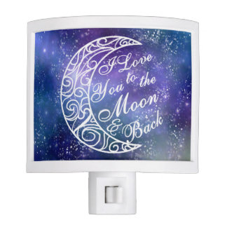 """""""I Love You To The Moon and Back"""" Starry Night Night Lite"""