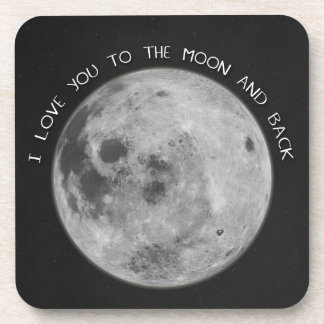I Love You To The Moon and Back Starry Sky Coaster