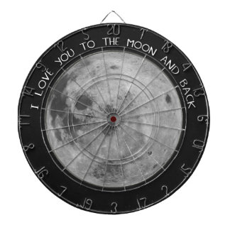 I Love You To The Moon and Back Starry Sky Dartboard
