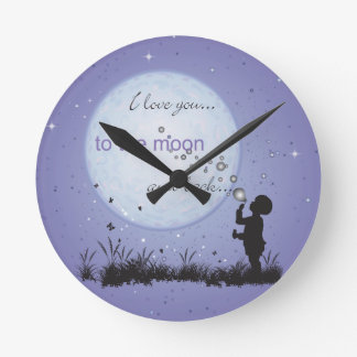 I Love You to the Moon and Back-Unique Gifts Clock