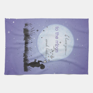 I Love You to the Moon and Back-Unique Gifts Towel