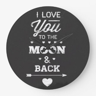 I Love You To The Moon And Back Wallclock