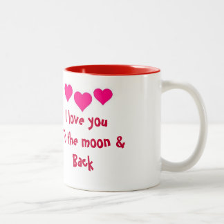 I love you to the moon & back mug
