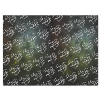 I Love You To The Moon & Back Tissue Paper, White Tissue Paper