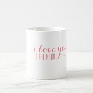 i love you to the moon coffee mug