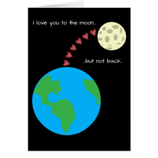 I love you to the moon sweet valentine's day card