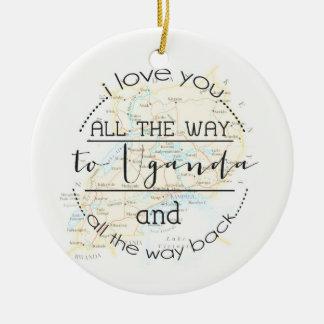I Love You To Uganda and Back Christmas Ornament