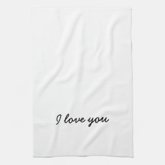 I love you towel. His and Hers - see other listing Hand Towel