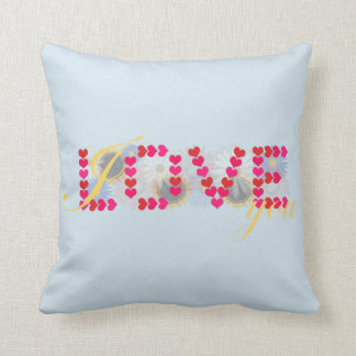 I love you - valentine's day designs throw pillow