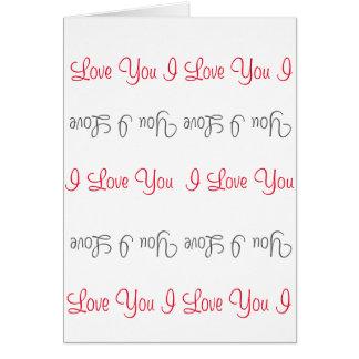 I Love You Vertical Greeting Card