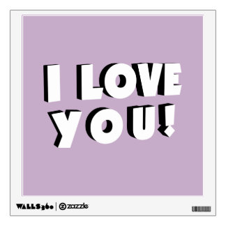 I love you! wall decal