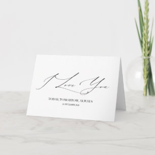 I Love You Wedding day Card First Anniversary