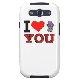 I Love You with Adorable Bunny Galaxy S3 Case