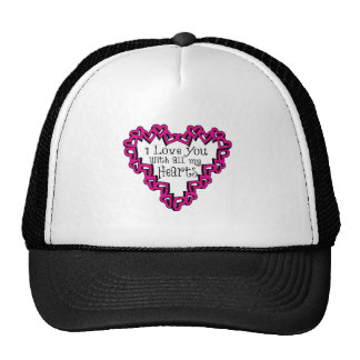 I Love You With All My Hearts Mesh Hats