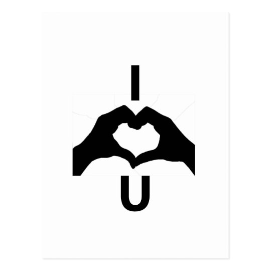 I Love You (With Hand Signs) Postcard