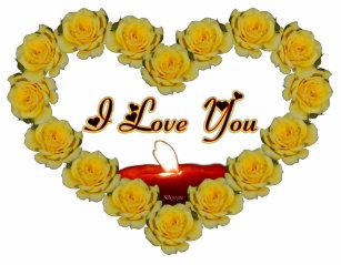 78265b90910dc I Love You Yellow Rose Heart Baby T-Shirt