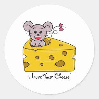 I love your Cheese Round Sticker