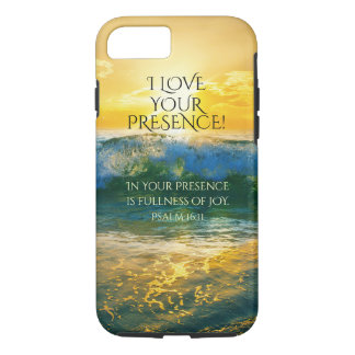 I Love Your Presence, Psalm 16:11 Ocean Sunset iPhone 7 Case