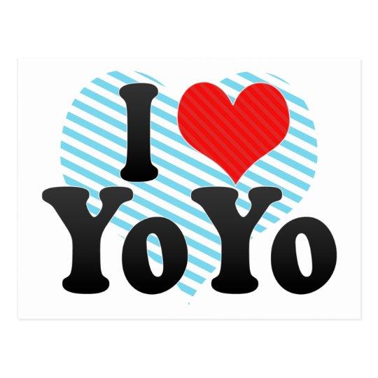 I Love YoYo Postcard