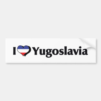 I Love Yugoslavia Flag Bumper Sticker