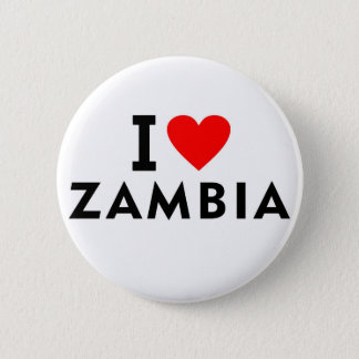 I love zambia country like heart travel tourism 2 inch round button
