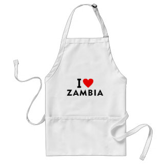 I love zambia country like heart travel tourism standard apron