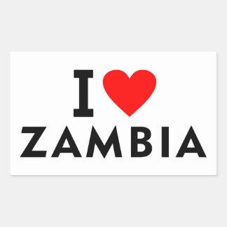 I love zambia country like heart travel tourism sticker
