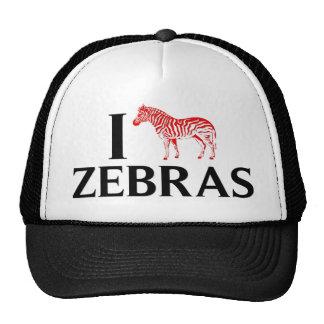 I Love Zebras Trucker Hat
