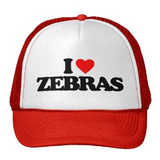 I LOVE ZEBRAS MESH HATS
