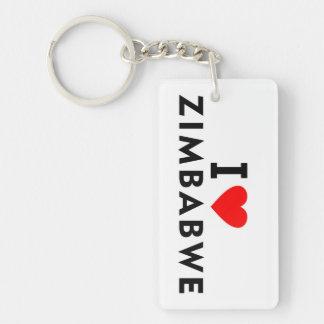 I love zimbabwe country like heart travel tourism keychain