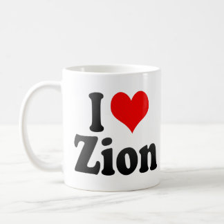 I Love Zion, United States Coffee Mug