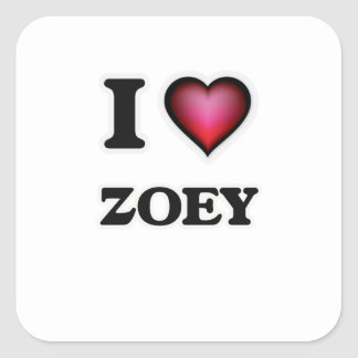 I Love Zoey Square Sticker