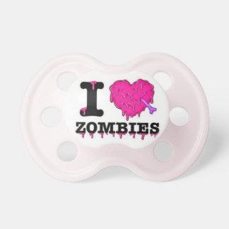 I Love Zombies -  Humorous Baby Girl Pacifier