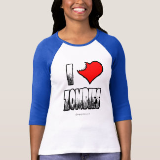 I Love Zombies Jr Raglan T-shirt