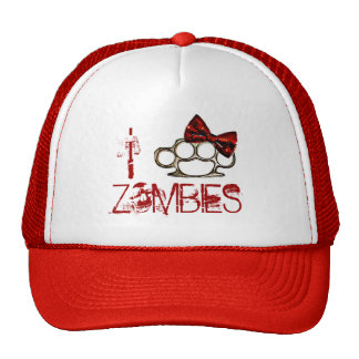 I Love Zombies-KnuckleBow Trucker Hat