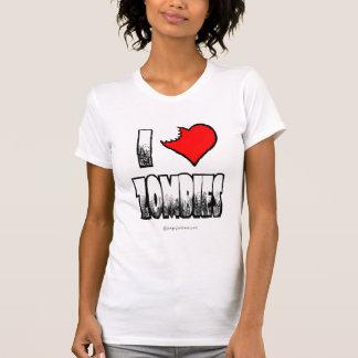 I Love Zombies Ladies Basic T-shirt