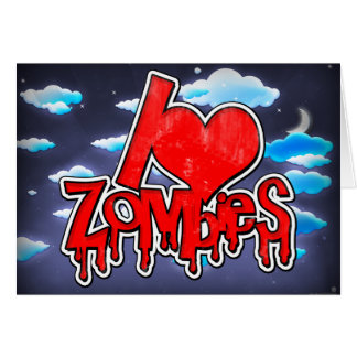 I Love Zombies Red Card