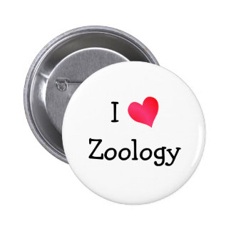 I Love Zoology 2 Inch Round Button
