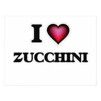 I Love Zucchini Postcard