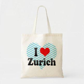 I Love Zurich, Switzerland Tote Bag