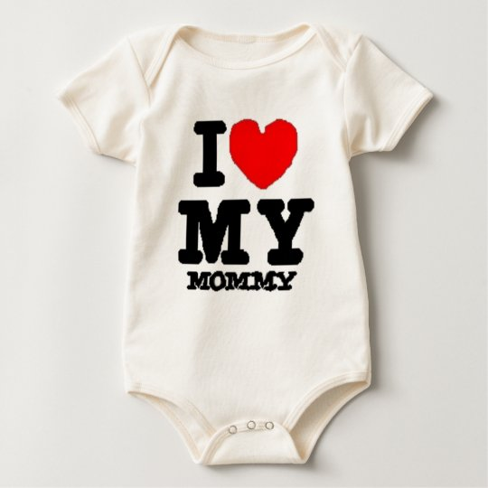 i lovee my mommy baby bodysuit
