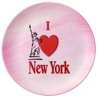 I Lover NY Plate