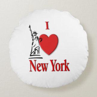 I Lover NY Round Pillow