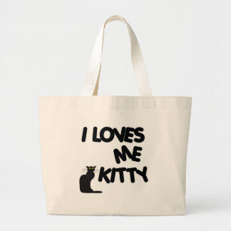 I Loves Me Kitty Large Tote Bag