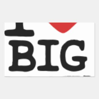 I LOVGE BIG BOOTY STICKER