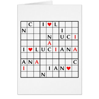 I♥LUCIANA CARD