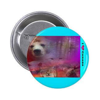 I Luv Canada 2 Inch Round Button