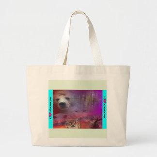 I Luv Canada Large Tote Bag